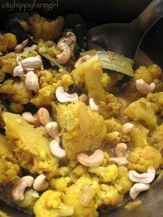 Cauliflower Curry- Frugal Friday