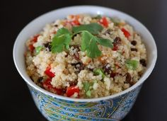 Cilantro Lime quinoa.  I'd leave the dried fruit out and just add veggies.  The dressing looks great...