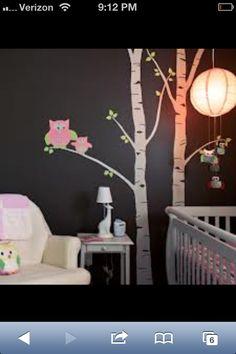 Wall. Tree. Baby room
