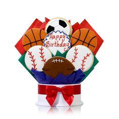 Sports Fan Birthday Cookie Bouquet