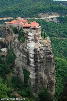 Agia Triada Monastery is probably the most dramatically positioned monastery of the complex, as it is perched on the top of a delicate pinnacle, accessible only by 140 steep steps.