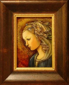 Madonna /wg Filippo Lippi/ malowane na szkle  Danuta Rożnowska-Borys.