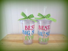 Sisters Tumblers by OliversLife on Etsy