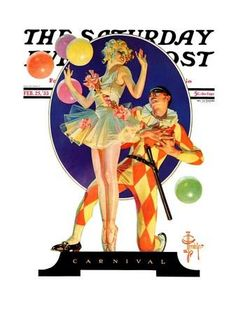 """""""Carnival,"""" Saturday Evening Post Cover, February 25, 1933 Giclee Print by Joseph Christian Leyendecker at Art.com"""