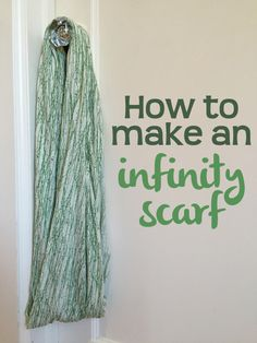 How to make an infinity scarf/nursing cover