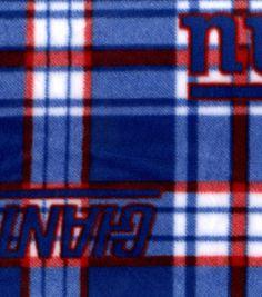 New York Giants Fleece Fabric -Plaid 595605c15