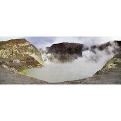 View of Crater Lake in White Island volcano Bay of Plenty North Island New Zealand Canvas Art - Panoramic Images (6 x 15)