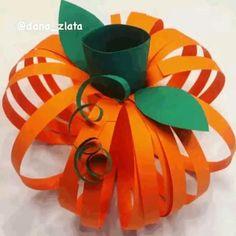 Fall Crafts For Toddlers, Paper Crafts For Kids, Toddler Crafts, Crafts To Make, Pumpkin Art, Pumpkin Crafts, Harvest Crafts, Orange Craft, Construction Paper Crafts