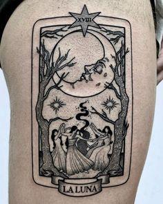 awesome Tattoo inspiration 2017 - Sara Rosa... Lotusblume Tattoo, Tattoo Mond, Tattoo Style, Body Art Tattoos, New Tattoos, Tattoo Quotes, Tatoos, La Luna Tattoo, Tattoo Skin