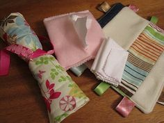 Sew your own baby doll acessories including changing pad, diapers, diaper bag, blankets & more!