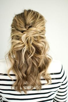 This Twisted Half-Up Hairstyle Is Perfect For Your Next Party