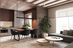 65 Comfy Living Room Ideas For Small Apartments Modern Apartment Design, Apartment Interior, Modern House Design, Living Room Furniture Layout, Interior Design Living Room, Living Rooms, Eclectic Kitchen, Cuisines Design, Furniture Arrangement