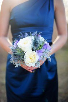 Unique blue bouquet: http://www.stylemepretty.com/collection/2259/