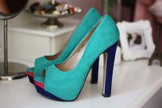 color block heel