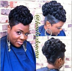 17 Nifty Easy Hairstyles Braids Faux Hawk - All For Little Girl Hair Black Hair Updo Hairstyles, My Hairstyle, Black Girls Hairstyles, Braided Hairstyles, Natural Hair Updo, Natural Hair Styles, Short Hair Styles, Soft Updo, Updo Styles