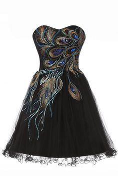 short, peacock, charming prom dresses, Homecoming dresses, sweetheart, above knee homecoming dresses.