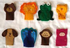 かわいい動物の指人形の作り方画像