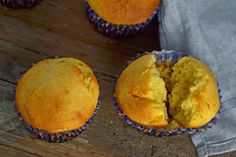 Gluten-free corn muffins, using GF cake flour (directions for cake flour included)