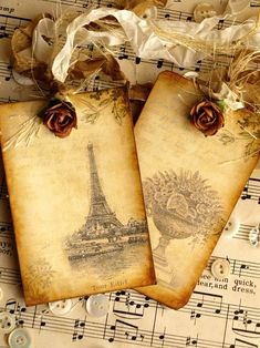 Beautiful vintage tags - use your countries of origin as inspiration!