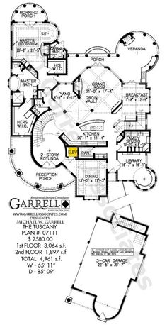 Tuscany House Plan Floor Plan, Mediterranean Style House Plans, Costa Rican Style House Plans ((not sure I need a piano room, will probably like to change up a few things but I like the shape and space :) space is important )) Dream House Plans, House Floor Plans, Dream Houses, Big Houses, Home Design Plans, Plan Design, The Plan, How To Plan, Mediterranean House Plans