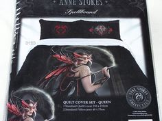 Anne Stokes Collection Spellbound Printed Queen Bed Quilt Cover Set New
