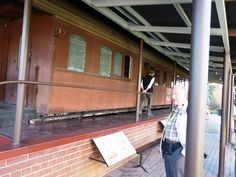 President Krugers Train PAUL KRUGER HOUSE The back yard houses the train that carried him over the Delgola Bay Railway toward Europe