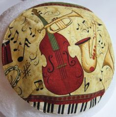 Cello and Sax and Trumpet and Keyboard Kippah by StudioBJC on Etsy, $15.00