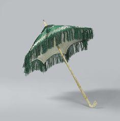 Parasol van de barones Van der Capellen, geboren Van Tuyll, met een ivoren, gesneden handgreep, anoniem, c. 1816