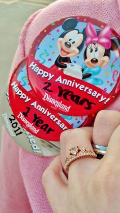 Keep the #celebration buttons from every year. #Disneyland #disney #anniversary
