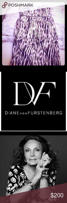 Diane Von Furstenberg Dress Zebra strapless dress Dresses Midi