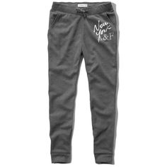 Abercrombie & Fitch girls jogger sweatpants ($30) ❤ liked on Polyvore featuring activewear, activewear pants, heather navy, sweat pants, jogger sweat pants, abercrombie fitch sweatpants, logo sportswear and navy blue sweatpants