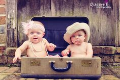 6 month old twins photography - Google Search
