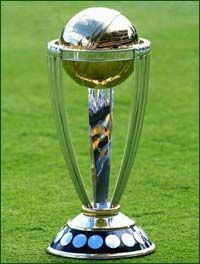 ICC Cricket World Cup Trophy. Get your FREE DOWNLOAD of the SportsQuest app at www.sportsquestapp.com @SportsQuestApp