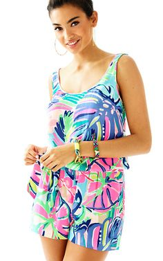 a30050db277 Lilly Pulitzer Rina Romper Lilly Pultizer