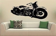 Harley Bike Chopper 1940 Wall art Sticker Decal 6191