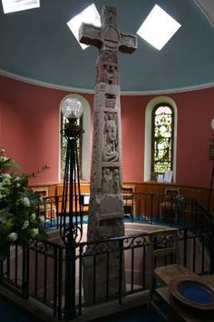 The Ruthwell Cross  is a stone Anglo-Saxon cross probably dating from the 8th century,[1] when Ruthwell was part of the Anglo-Saxon kingdom of Northumbria; it is now in Scotland.