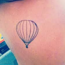 Image result for small hot air balloon tattoo