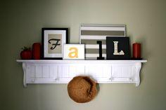 Mantle or Shelf Decor Idea.  Fall Mantle ideas from East Coast Creative - WE LOVE FALL!