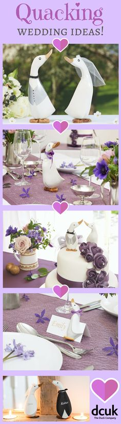Are you attending or planning a wedding this year? We have some quacking wedding gift and theme ideas, including personalised Bride & Groom gifts, Bridesmaid and Pageboy gifts, cake toppers, place settings and more! Waddle over to our website at The Duck Company, DCUK to view!
