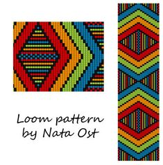 """Beading Loom Pattern Bracelet """"Game Of Rainbow"""" Seed Bead Cuff Instant Download"""