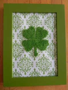 Make this Seed Bead Four-Leaf Clover as a gift or for your own St. Patrick's Day decor. St Paddys Day, St Patricks Day, Saint Patricks, St Patrick's Day Decorations, Irish Blessing, St Pats, Luck Of The Irish, St Patrick's Day Crafts, Holiday Crafts