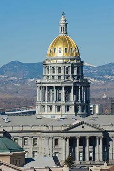 """United States Capitol Denver, Colorado - the 13th step is """"a mile high"""". Colorado Springs, State Of Colorado, Colorado Homes, Denver Colorado, Wyoming, Tucson, Grand Canyon, Arizona, Capitol Building"""