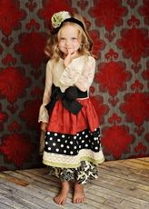 Persnickety Holiday Girls Dress and Bloomers! WOW