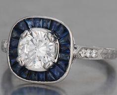 french cut sapphire magic!