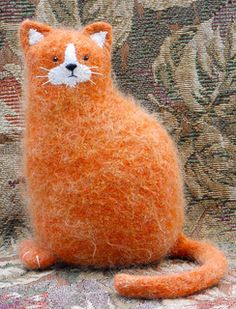 Felted Woolly Kitty Kat