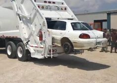 How powerful is the New Way Cobra Magnum garbage compactor? Watch it chew up a Pontiac Grand Am.