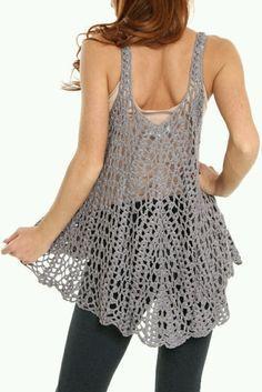 Mi baúl de Inspiraciones : blusas sin mangas tejidas a crochet!!
