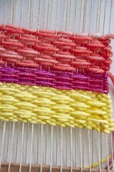 Beautiful small diamond weaving pattern tutorial