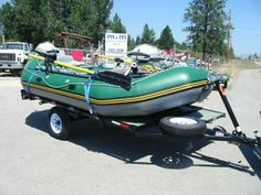 M&M Auto & Trailer 3745 Hwy 93 n. Inflatable Pontoon Boats, Fly Fishing Boats, Route 66, Rafting, Marker, Trailers, Monster Trucks, Ideas, Markers