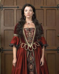 "Anne Boleyn (portrayed by Natalie Dormer) in season 1 of ""The Tudors"""